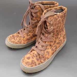 Airwalk leopard animal print high top sneakers